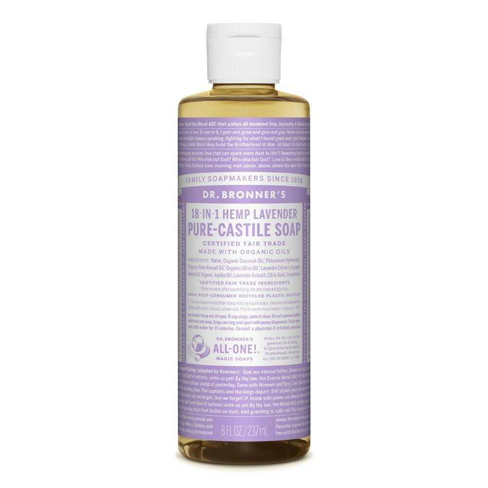 Dr. Bronner's 18-In-1 Hemp Pure Castile Soap 237ml - Lavender