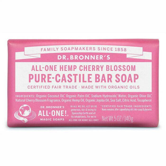Dr. Bronner's Pure Castile Soap Bar - Cherry Blossom