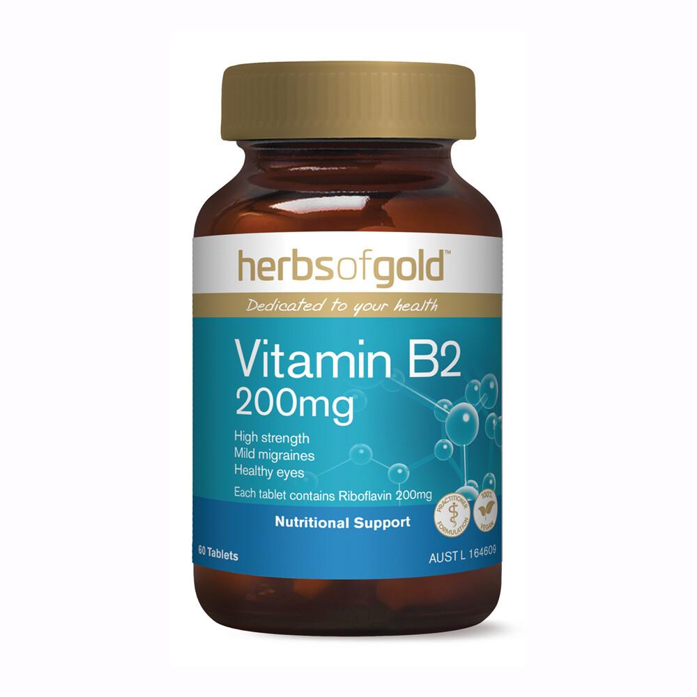 Herbs of Gold Vitamin B2 200mg - 60 tablets