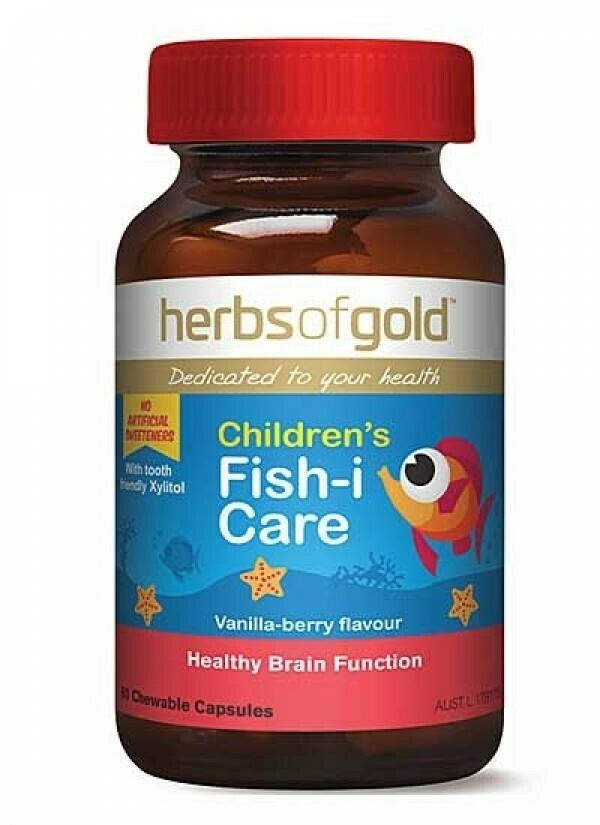 Herbs of Gold Children's Fish-I Care - 60 capsules
