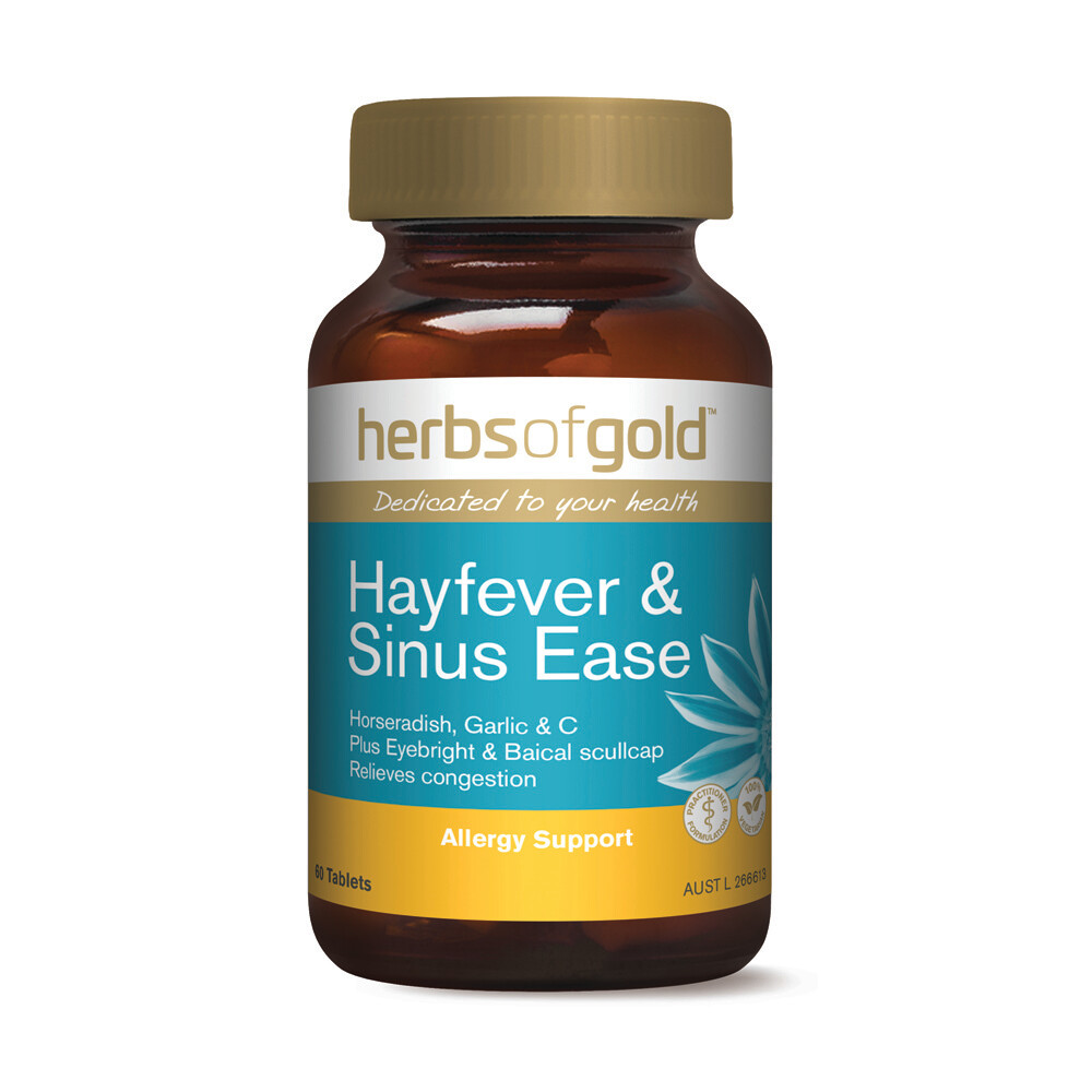 Herbs of Gold Hayfever & Sinus Ease - 60 tablets