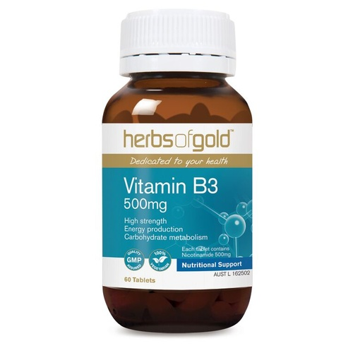 Herbs of Gold Vitamin B3 500mg - 60 tablets