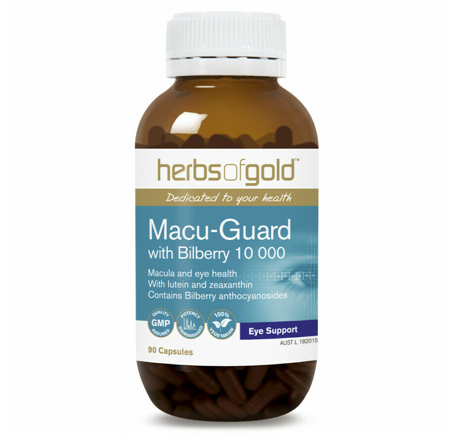 Herbs of Gold Macu-Guard with Bilberry 10 000 - 90 tablets