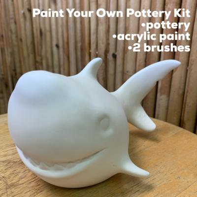 Ceramic Shark Figurine Acrylic Painting Kit