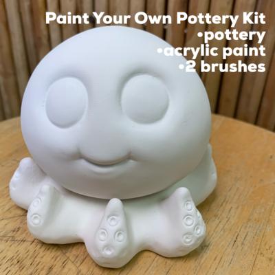 Ceramic Octopus Figurine Acrylic Painting Kit