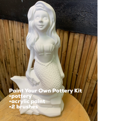 Ceramic Mermaid Bank Acrylic Painting Kit