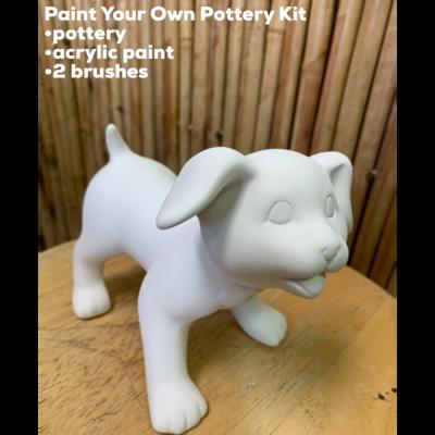 Ceramic Puppy Dog Figurine Acrylic Painting Kit
