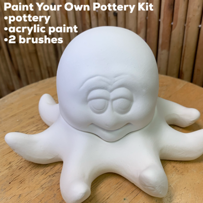 Ceramic Octopus Box Acrylic Painting Kit