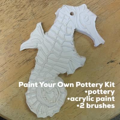 Ceramic Seahorse Acrylic Painting Kit