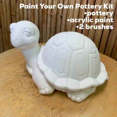 Ceramic Turtle Box Acrylic Painting Kit