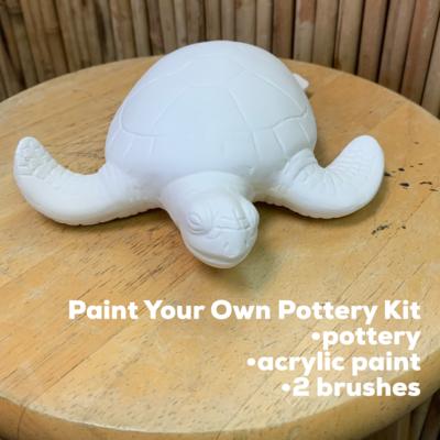 Ceramic Sea Turtle Figurine Acrylic Painting Kit