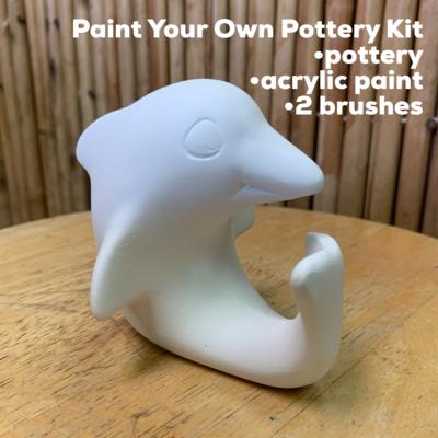 Ceramic Dolphin Figurine Acrylic Painting Kit