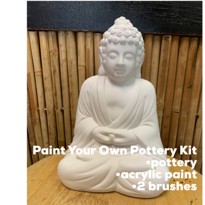 Ceramic Buddha Figurine Acrylic Painting Kit