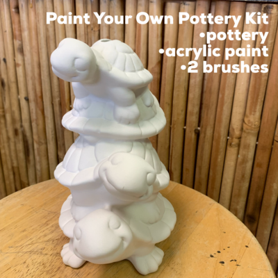 Ceramic Turtle Stack Bank Acrylic Painting Kit