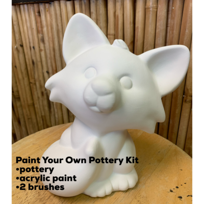 Ceramic Fox Bank Acrylic Painting Kit