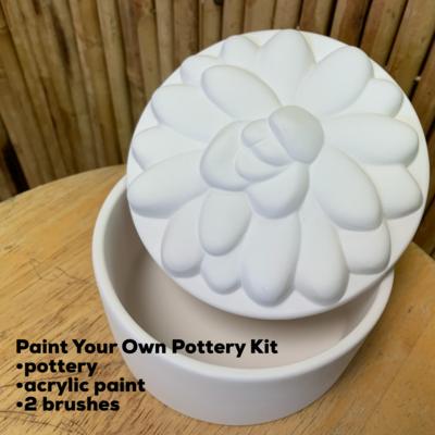Ceramic Succulent Box Acrylic Painting Kit