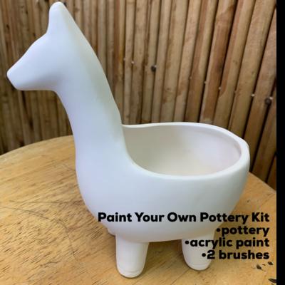 Ceramic Llama Planter Acrylic Painting Kit