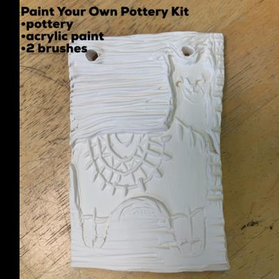 Ceramic Llama Tile Acrylic Painting Kit
