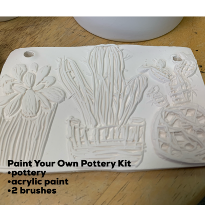 Ceramic Cactus Succulent Tile Acrylic Painting Kit