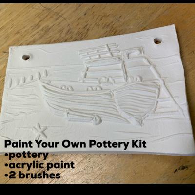 Ceramic South Jersey Beach Tile Acrylic Painting Kit