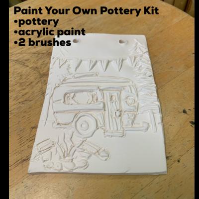 Ceramic Camping Glamping Tile Acrylic Painting Kit