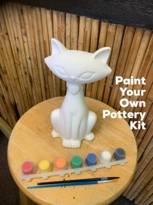 Ceramic Modern Cat Figurine Acrylic Painting Kit