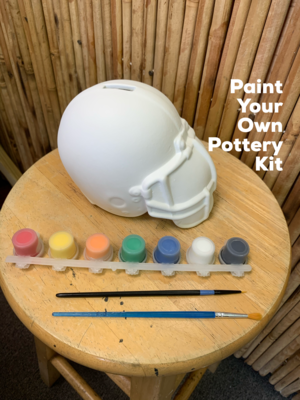 Ceramic Football Helmet Bank Acrylic Painting Kit