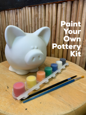 Ceramic Piggy Bank Acrylic Painting Kit