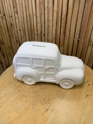BRING BACK TO FIRE Ceramic Beach Woody Wagon Bank Painting Kit