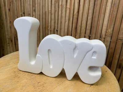 BRING BACK TO FIRE Ceramic Love Word Plaque Painting Kit