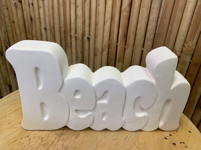 BRING BACK TO FIRE Ceramic Beach Word Plaque Painting Kit