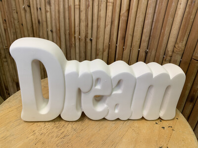 BRING BACK TO FIRE Ceramic Dream Word Plaque Painting Kit