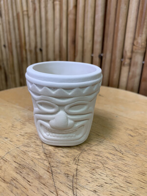 Paint Your Own Pottery - Ceramic   Tiki Shot Glass Painting Kit