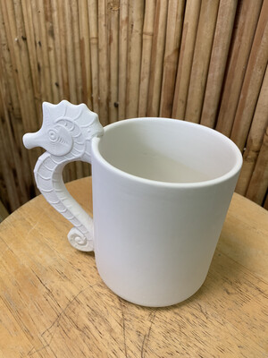 Paint Your Own Pottery - Ceramic   Seahorse Mug Painting Kit