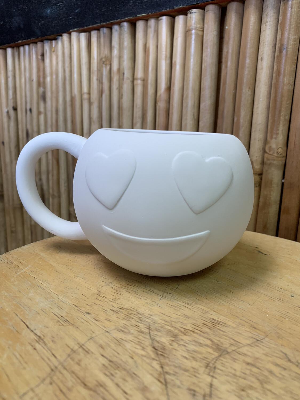 Paint Your Own Pottery - Ceramic   Emoji Love Smile Mug Painting Kit