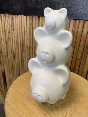 BRING BACK TO FIRE Ceramic Piggy Stack Bank Painting Kit