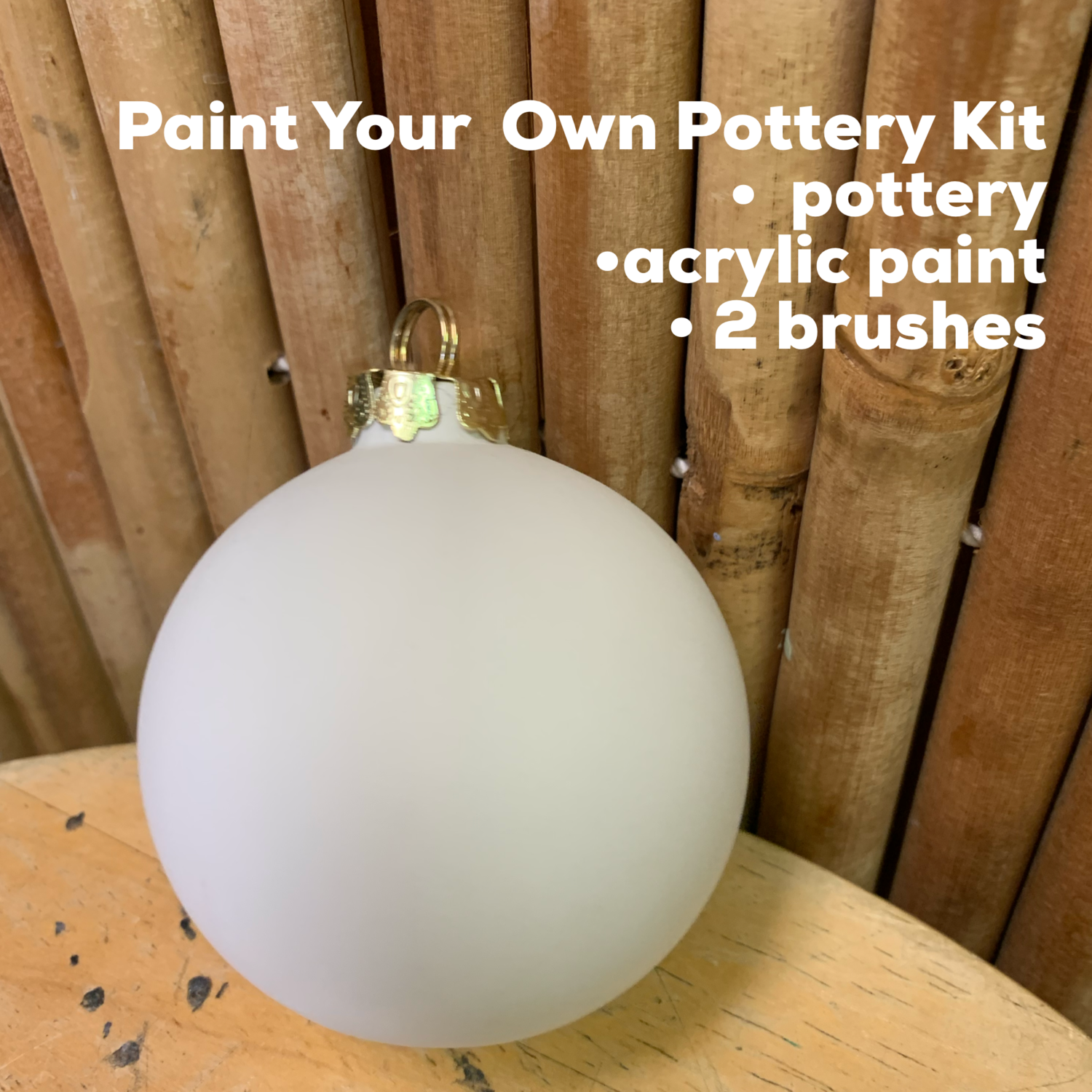 NO FIRE Paint Your Own Pottery Kit -  Ceramic Round Ornament Acrylic Painting Kit