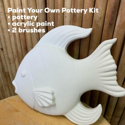 Ceramic Fish Wall Plaque Acrylic Painting Kit