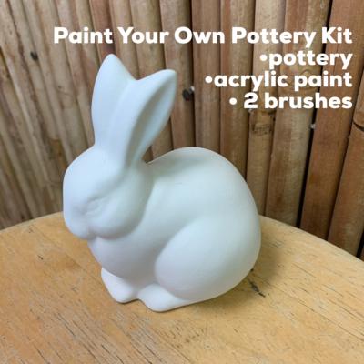 Ceramic Bunny Rabbit Acrylic Painting Kit