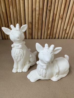 BRING BACK TO FIRE Ceramic Set Of 2 Christmas Reindeer Deer Painting Kit
