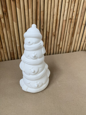 Paint Your Own Pottery - Ceramic   Snowman Stack Bank Painting Kit