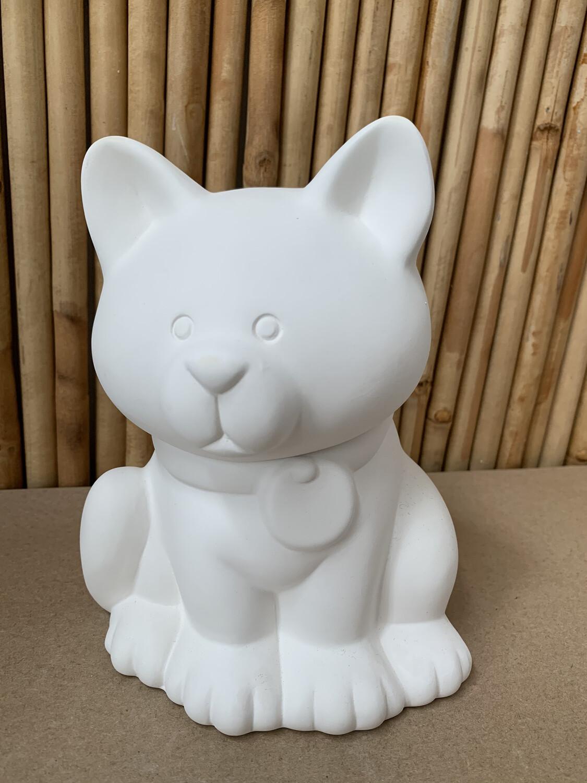 Paint Your Own Pottery - Ceramic   Cat Treat Jar Painting Kit