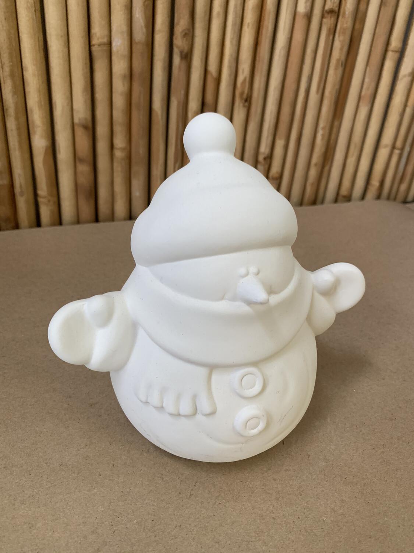 Paint Your Own Pottery - Ceramic   Medium Snowman Figurine Painting Kit