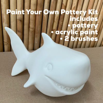 Ceramic Shark Bank Acrylic Painting Kit