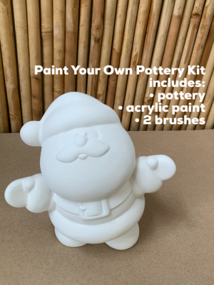 Ceramic Medium Santa Figurine Acrylic Painting Kit