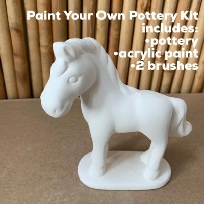 Ceramic Horse Acrylic Painting Kit
