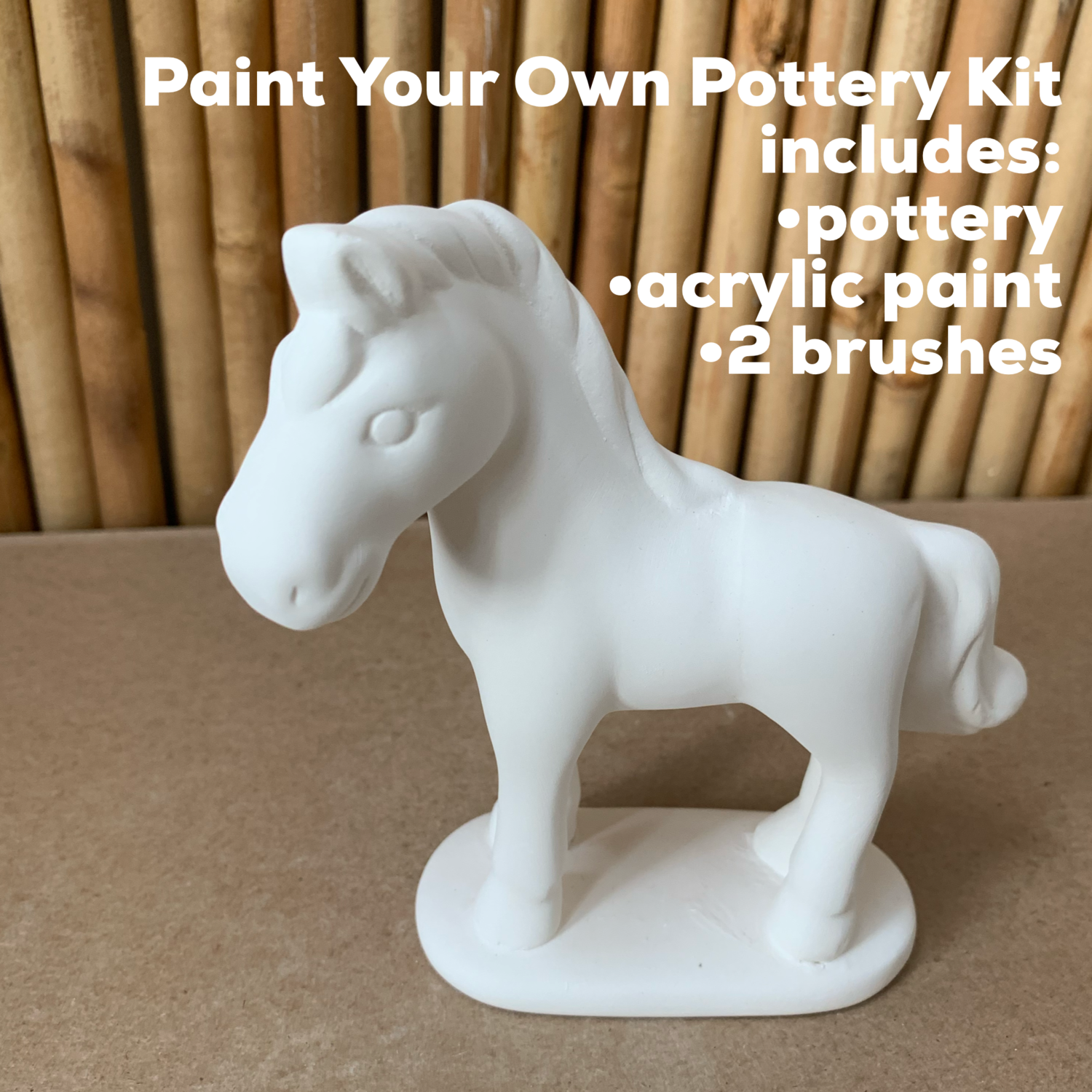 Ceramic Horse Acrylic Painting Kit
