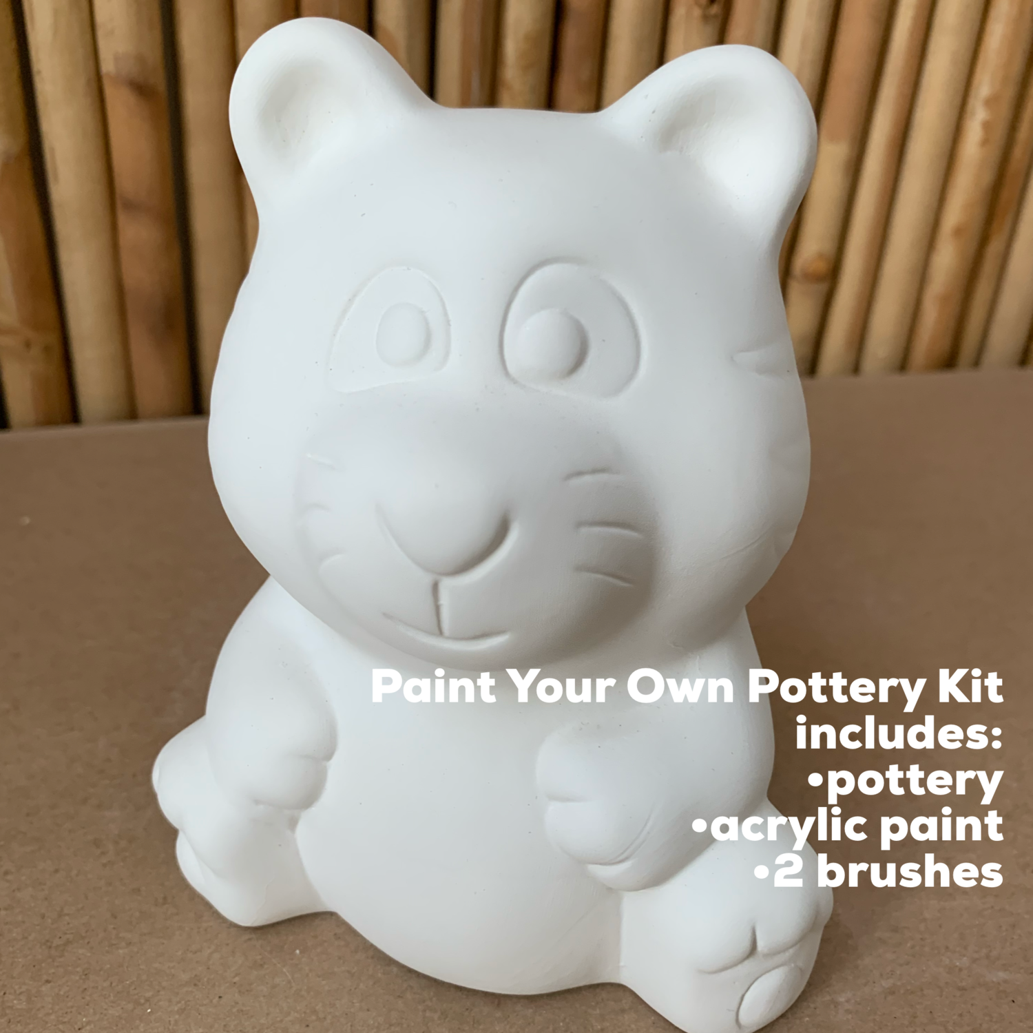 NO FIRE Paint Your Own Pottery Kit -  Ceramic Tiger Bank Acrylic Painting Kit