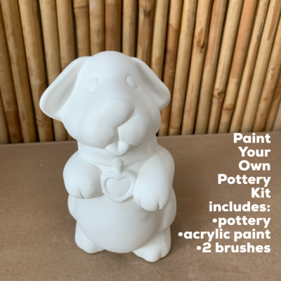 Ceramic Puppy Dog Bank Acrylic Painting Kit