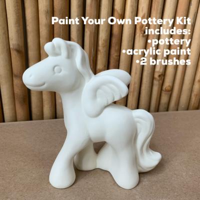 Ceramic Pegasus Unicorn Figurine Acrylic Painting Kit